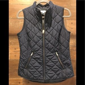 Navy Crown & Ivy Quilted Vest